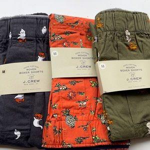 J. Crew Boxer Shorts 💯 Cotton size M 32-34 NWT